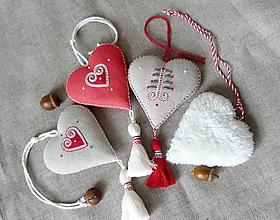 Dekorácie - Srdce -séria červená - 11299861_