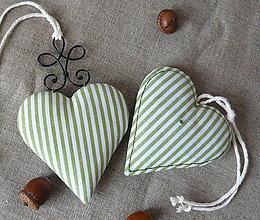 Dekorácie - Srdiečko - séria zelený pásik - 11300104_