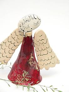 Dekorácie - anjel so širokými krídlami zelený  (Červená) - 11298790_