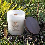Svietidlá a sviečky - Zamrznuté bobulie - sójová sviečka (M) - 11300999_
