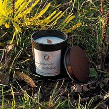 Svietidlá a sviečky - Šumivé víno s klemetínkami - sójová sviečka (M) - 11301011_