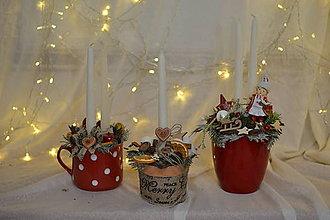 Dekorácie - Prírodný vianočný svietnik - 11301640_