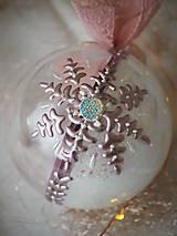 Dekorácie - RUŽOVO-FIALOVÉ vianočné gule s 3D fotkou - 11299530_
