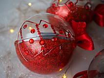 Dekorácie - ČERVENÉ vianočné guľe s 3D fotkou - 11299642_