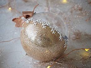 Dekorácie - ŠAMPANSKÉ vianočné gule s 3D fotkou - 11299469_
