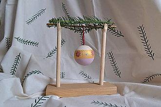 Dekorácie - Vianočná drevena guľa - 11299853_