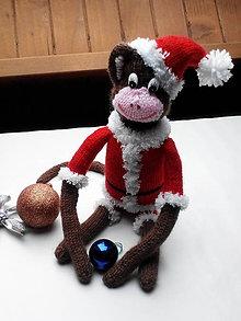Hračky - Vianočná opička - 11299272_