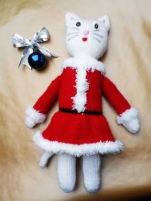 Hračky - Vianočná mačička - 11299332_