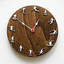 Hodiny - Lyžiarske hodiny 3D - 11299979_