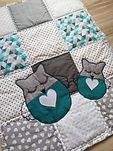 """Úžitkový textil - Detská patchwork dečka """"Sovička"""" - 11300076_"""