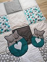 """Úžitkový textil - Detská patchwork dečka """"Sovička"""" - 11300077_"""