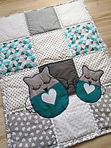 """Úžitkový textil - Detská patchwork dečka """"Sovička"""" - 11300079_"""