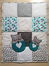 """Úžitkový textil - Detská patchwork dečka """"Sovička"""" - 11300080_"""