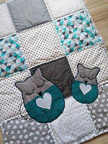 """Úžitkový textil - Detská patchwork dečka """"Sovička"""" - 11300082_"""