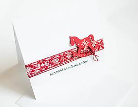 """Papiernictvo - čarovné chvíle vianočné """"koník"""" - 11298165_"""
