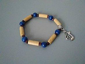 Náramky - Náramok z drevených korálok - 11299721_