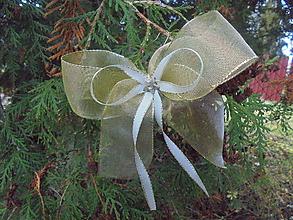 Dekorácie - Mašle na vianočný stromček..... - 11299649_