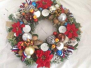 Dekorácie - Velký 50cm Adventny vianočný  veniec-Slovensko - 11299212_