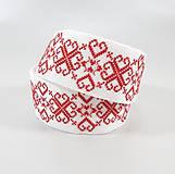 Opasky - Červené líčka mala - vyšívaný folk opasok - 11300308_