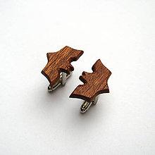 Šperky - Drevené manžetové gombíky - mahagónový batman - 11300039_