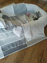 Textil - Sivobiela baby dečka - 11298198_