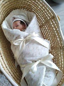 Textil - Minky obláčiková zavinovačka - 11300575_
