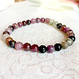- Multicolor Tourmaline Bracelet / Elastický náramok s pravým farebným turmalínom - 11302842_