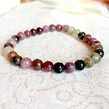 Náramky - Multicolor Tourmaline Bracelet / Elastický náramok s pravým farebným turmalínom - 11302842_
