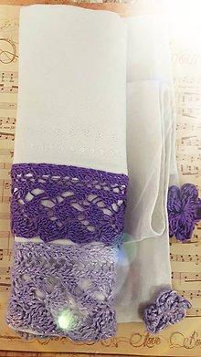 Úžitkový textil - Ľanové utierky - fialové sada 2ks - 11303602_