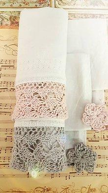 Úžitkový textil - Ľanové utierky - sada 2ks - 11303646_