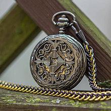 Doplnky - Mechanické vreckové hodinky s kroužkovanou reťazou (56) - 11301894_
