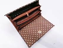 Peňaženky - Peňaženka hnedá s koňom - 11301893_