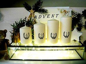 Svietidlá a sviečky - Adventné sviečky - 11304186_