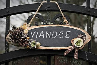 Tabuľky - Vianočná dekorácia - tabuľka - 11302059_