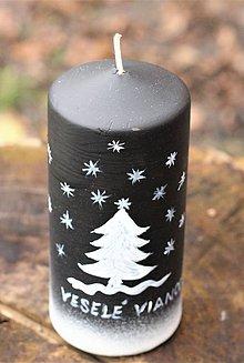 Svietidlá a sviečky - Vianočná sviečka - 11302062_