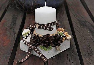 Dekorácie - Vianočný svietnik - 11302066_