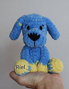 Hračky - Háčkovaný psík Maťko (Modrá) - 11304711_