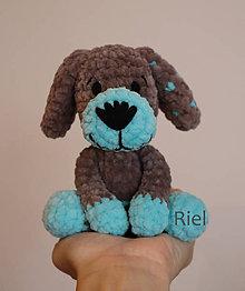 Hračky - Háčkovaný psík Maťko - 11304720_
