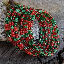 Náramky - náramok červeno zelený - 11302345_