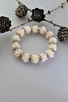 Náramky - perly náramok luxusný - svadobný - 11302709_