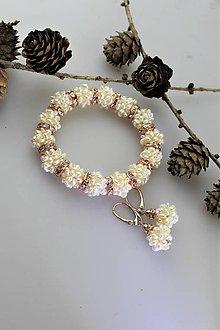 Sady šperkov - perly náramok a náušnice - svadobný set - 11302828_