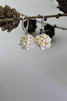Náušnice - perly náušnice strieborné - 11304214_