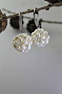 Náušnice - perly náušnice pre nevestu - 11305138_