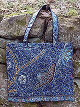 Nákupné tašky - Veľká taška modro-tyrkysová - 11302877_