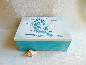 Krabičky - Drevená truhlička Vietor do plachiet - 11301785_