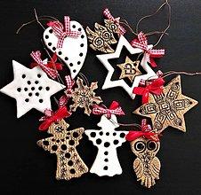 Dekorácie - Vianočné ozdoby sada -keramické-oboustranné - 11303911_