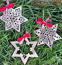 Dekorácie - Vianočné ozdoby sada-keramické-oboustranné - 11304032_