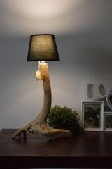 """Svietidlá a sviečky - Drevená stolná lampa """"Borovica"""" - 11302038_"""