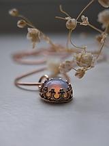 Náhrdelníky - Opalit ružový - 11303842_