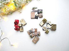 Hračky - Sada mini vianočných darčekov - 11303538_